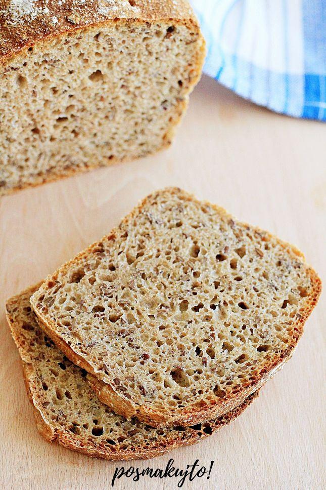 chleb pszenny razowy z siemieniem lnianym latwy chleb na drozdzach