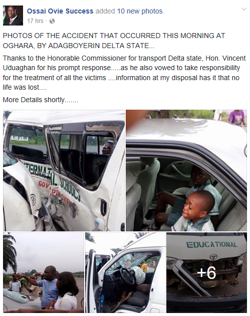 Multiple vehicles involved in an accident in Delta state (photos)