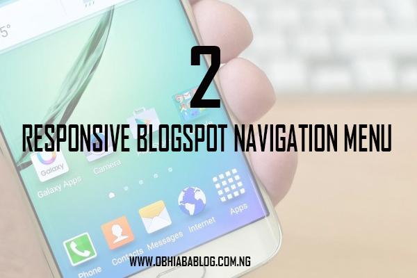 Blogger Navigation Menus