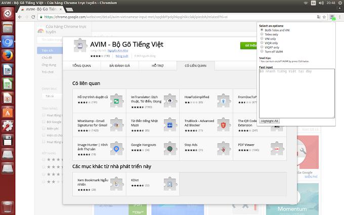 Giải pháp cho những người chỉ dùng tiếng Việt lướt Web