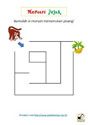 Mencari Jejak: Bantulah Monyet Menemukan Pisang!