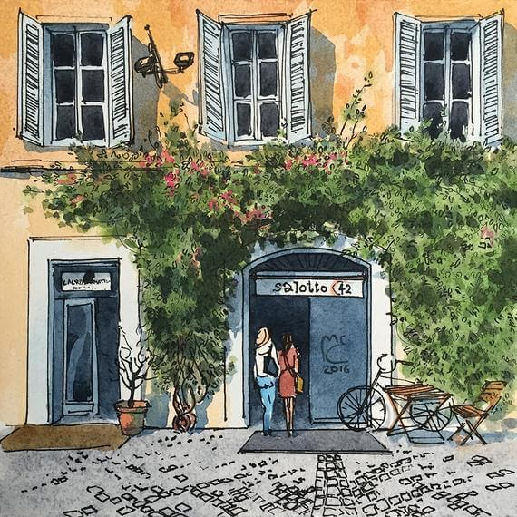 10-Urban-sketch-Rome-Italy-Eleanor-Mill-European-Architecture-in-Watercolor-Paintings-www-designstack-co
