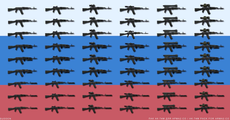 Ak74m: 48 種類の仕様を実装する AK-74M 武器パック
