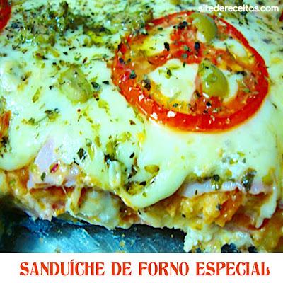 Sanduíche de forno especial