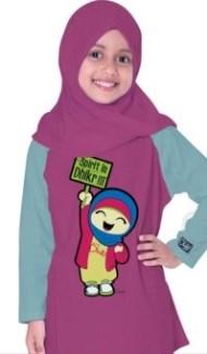 Kaos Muslim Anak Perempuan modis