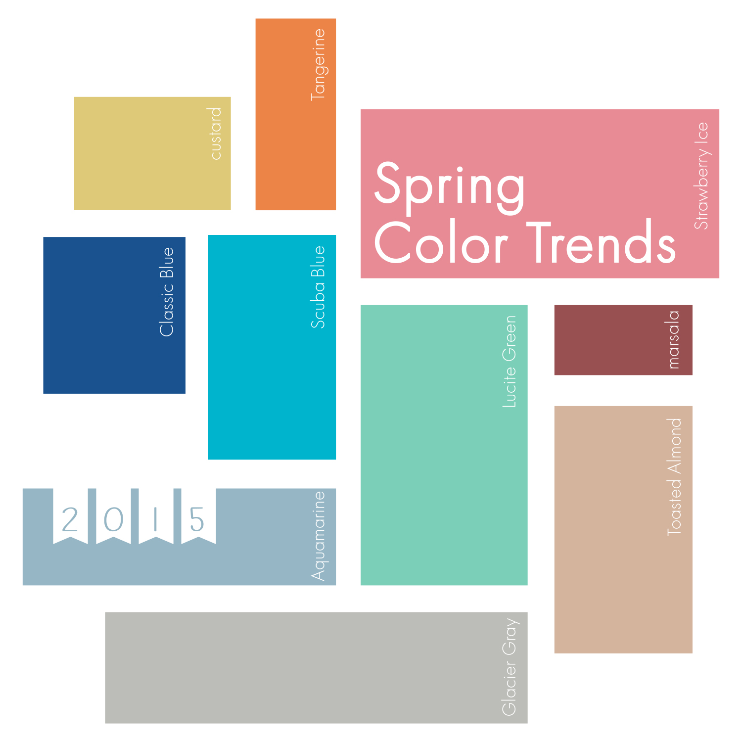 Modern Typography: Pantone Spring Color Trends 2015