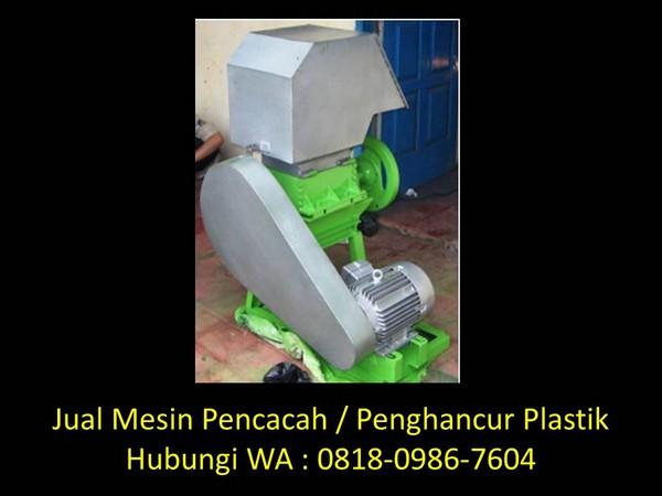 konstruksi mesin penghancur plastik di bandung
