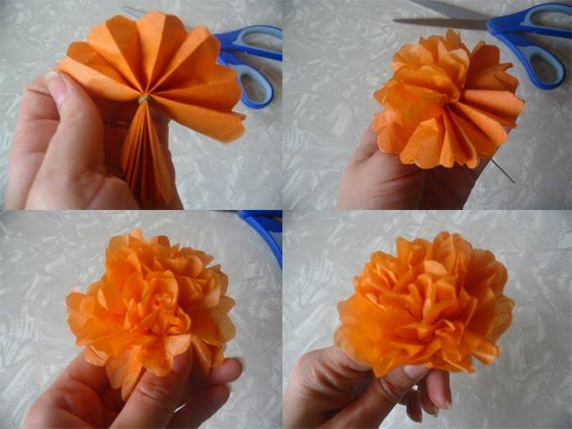 Make Paper Marigold Flowers Gardening Flower And Vegetables