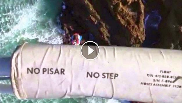 Rescate Bañista San Juan de la Canal Cantabria 112