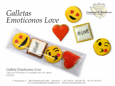 Galletas creativas Emoticonos Love - Comercial H Martín sa