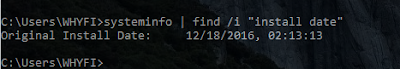 cek umur installasi windows dengan sysinfo