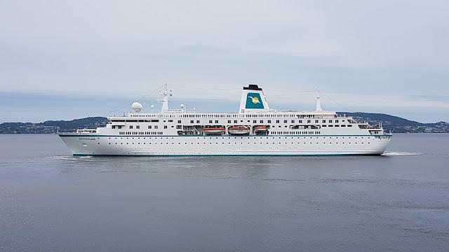 Cruise ship Deutschland in Bergen, Norway; Fjords cruise; Ships in Bergen