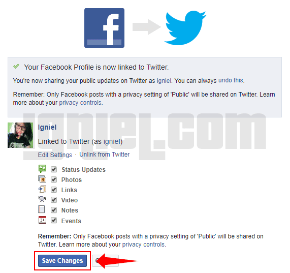 Cara Update Status Facebook Ke Twitter Otomatis