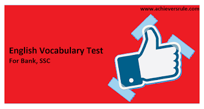 Test of English Word Power for IBPS PO - Set 10