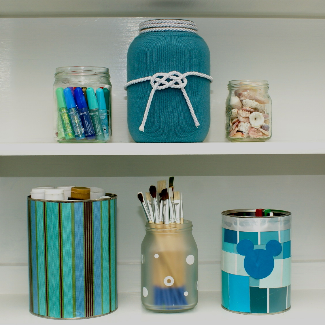 What To Put In Mason Jars For Decoration: The Cozy Condo: Decorate Mason Jars And Coffee Cans