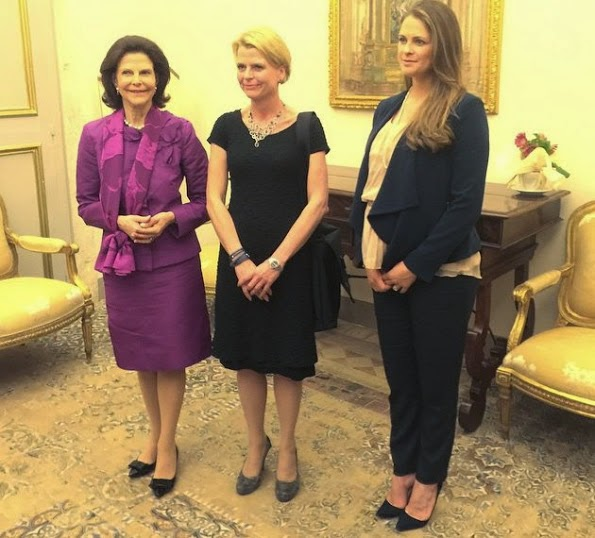 Queen Silvia And Princess Madeleine Attend A Seminar In Vatican