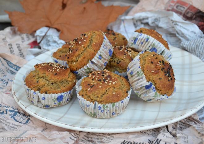 Muffins de higos, sésamo y miel 6