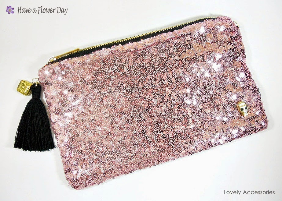 Cartera Lentejuelas Rosa · Pink Sequin Clutch