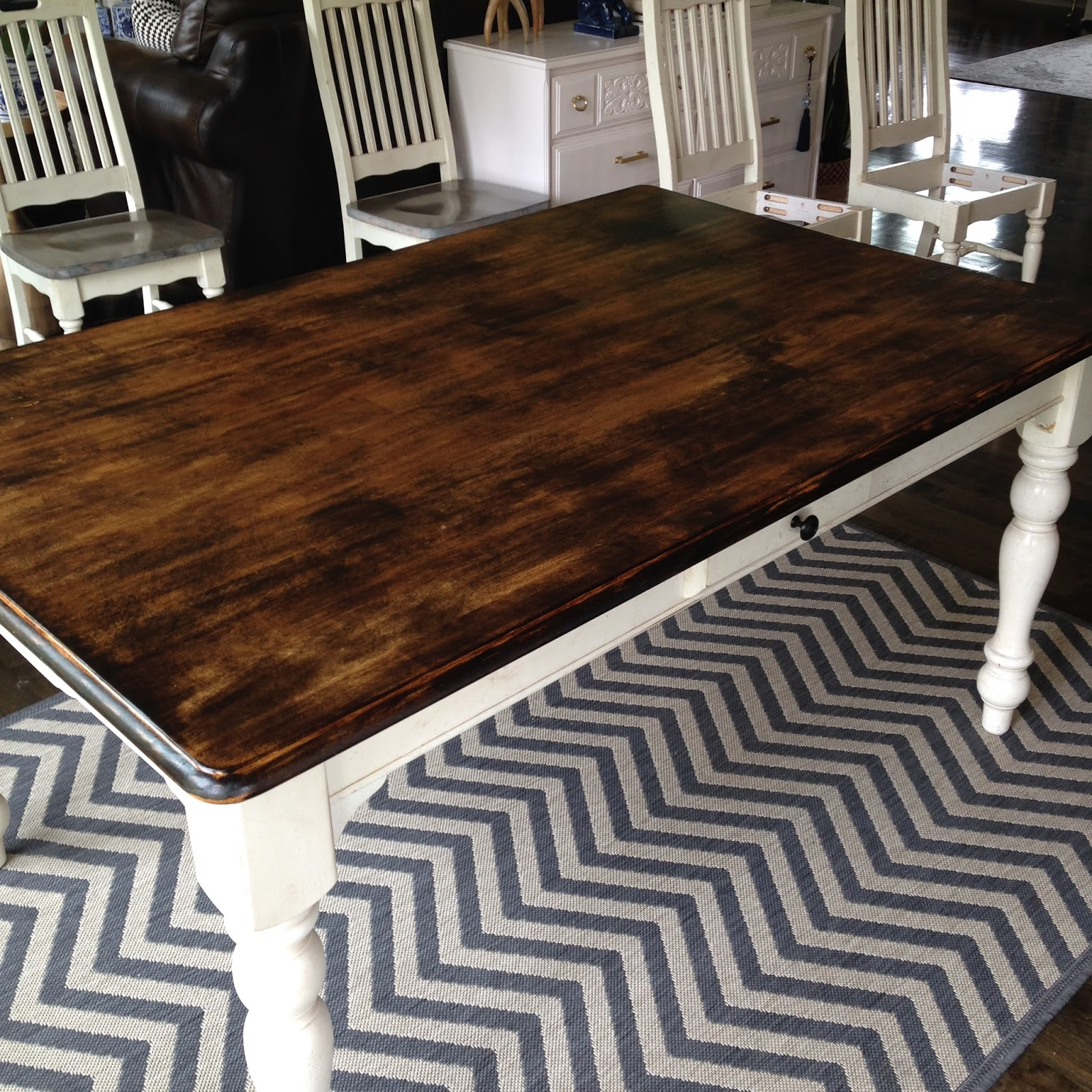 life love larson: diy: (re)staining our kitchen table