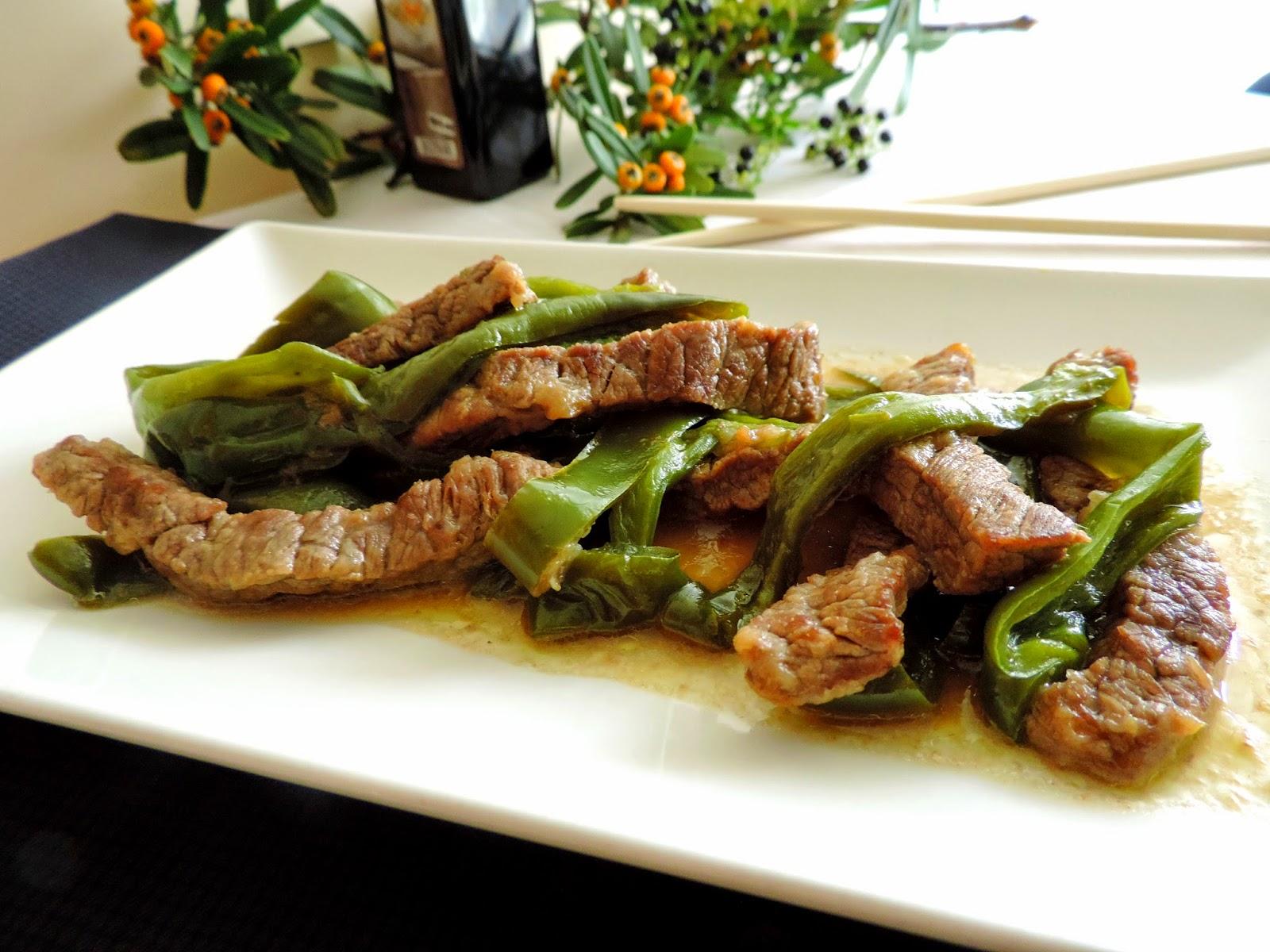 Cocinando con las chachas ternera con pimientos estilo for Cocinar con cookeo