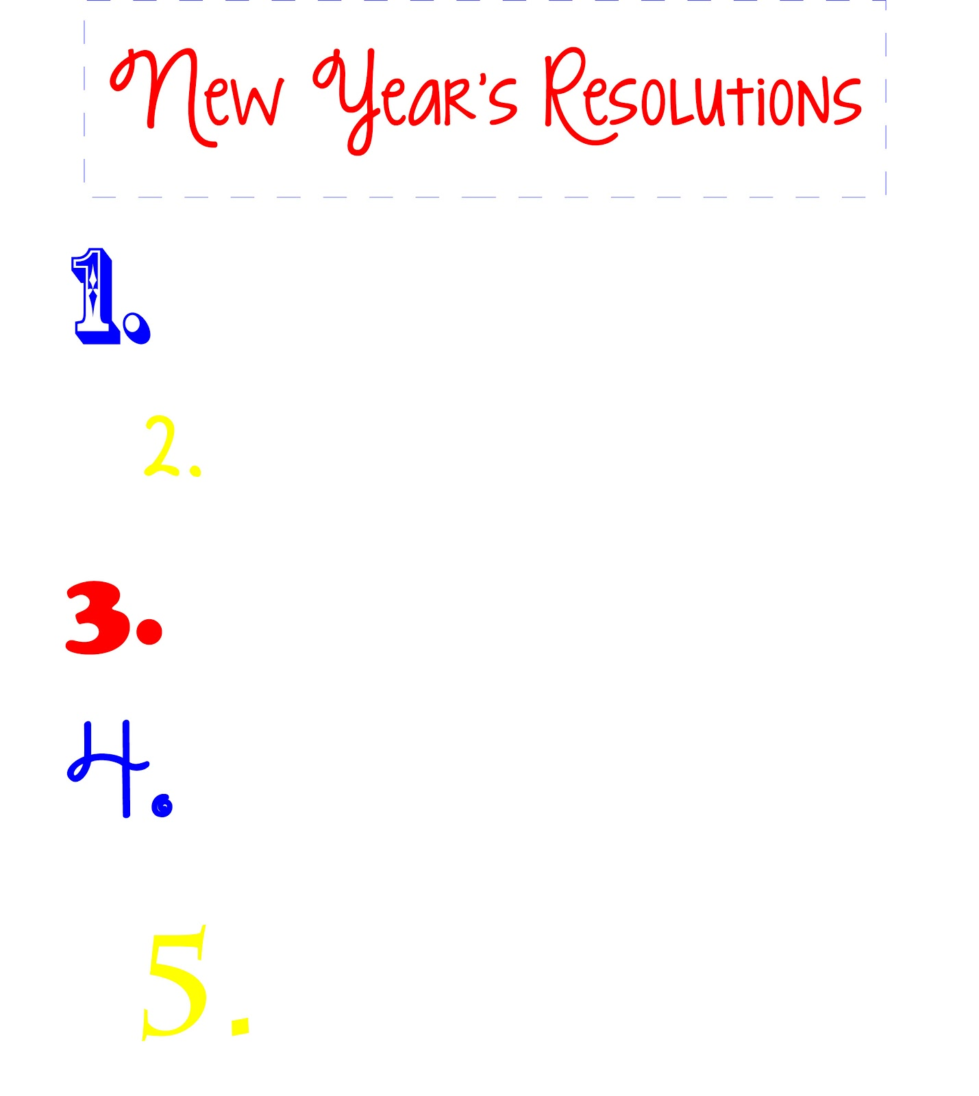Planner Printables New Year S Resolutions And Rotating Goals
