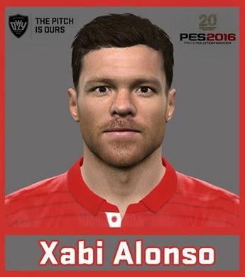 PES 2016 Xabi Alonso (FC Bayern München) Face by Ozy_96 PESMOD
