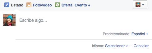 facebook multi idiomas