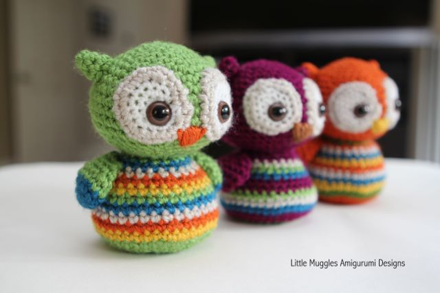 Häkelblog - Täglich neue Anleitungen: Baby Eulen - Häkelanleitung