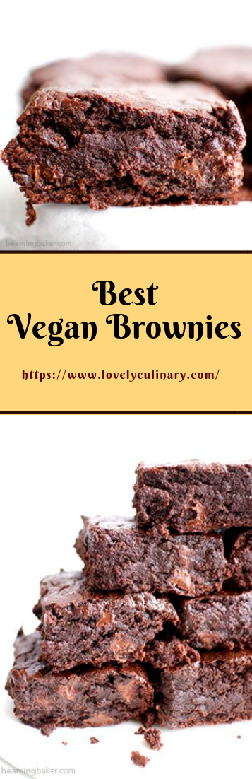 Best Vegan Brownies #bakedbrownies #homemade