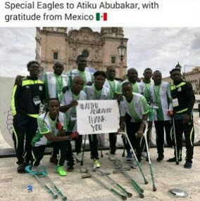 Special 'Amputee' Eagles Thank Atiku For Financial Support