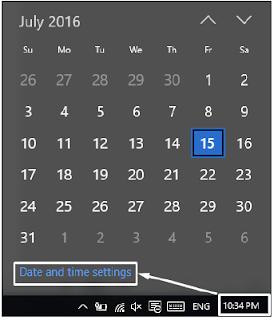 Pengaturan waktu dan tanggal