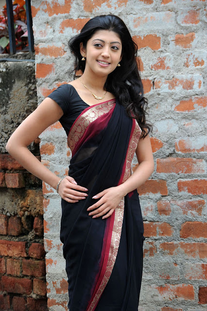 Actress Praneetha Hot in Black Saree Latest Stills