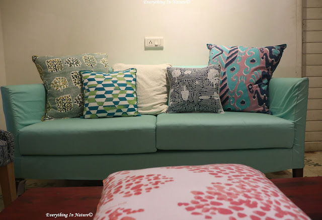 sofa and cushions - everything in nature