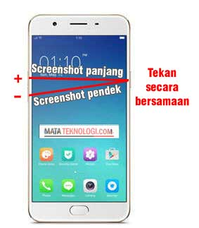cara screenshot Oppo 1201