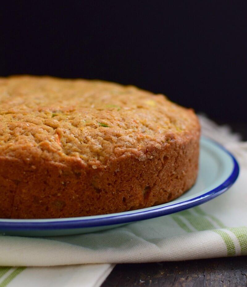 Receta para preparar torta de zanahoria con pistachos y garam masala