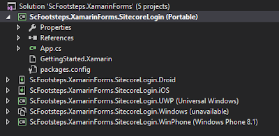 Issue While Trying to Add Sitecore Mobile SDK NuGet Packages into Shared Portable Xamarin Project