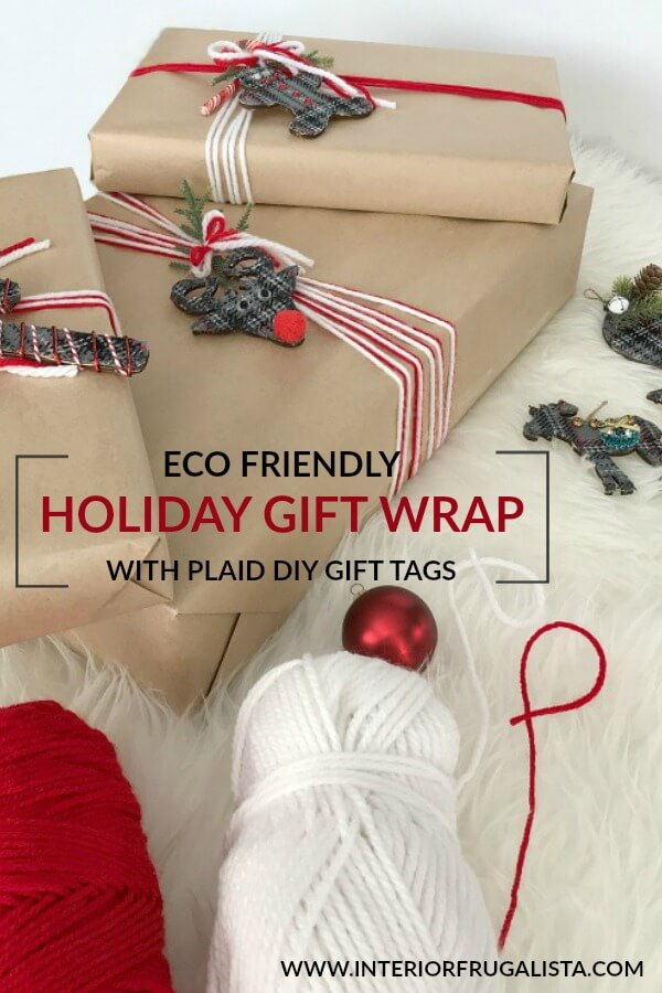 Eco Friendly Holiday Gift Wrap With Paid DIY Gift Tags