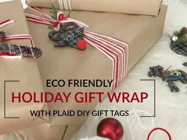 Eco-Friendly Holiday Gift Wrap And DIY Ornament Gift Tags