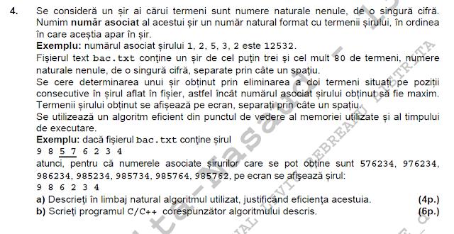 rezolvare simulare BAC 2014 matematica informatica