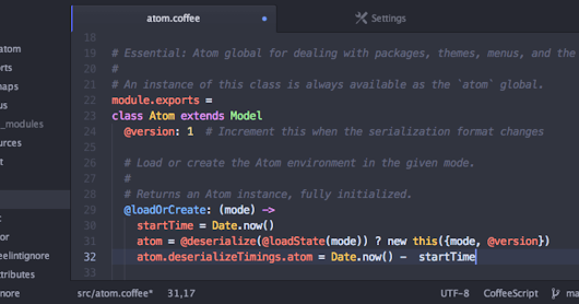 Atom Open Source Editor