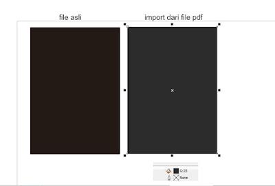file asli dan file import dari pdf mode grayscale