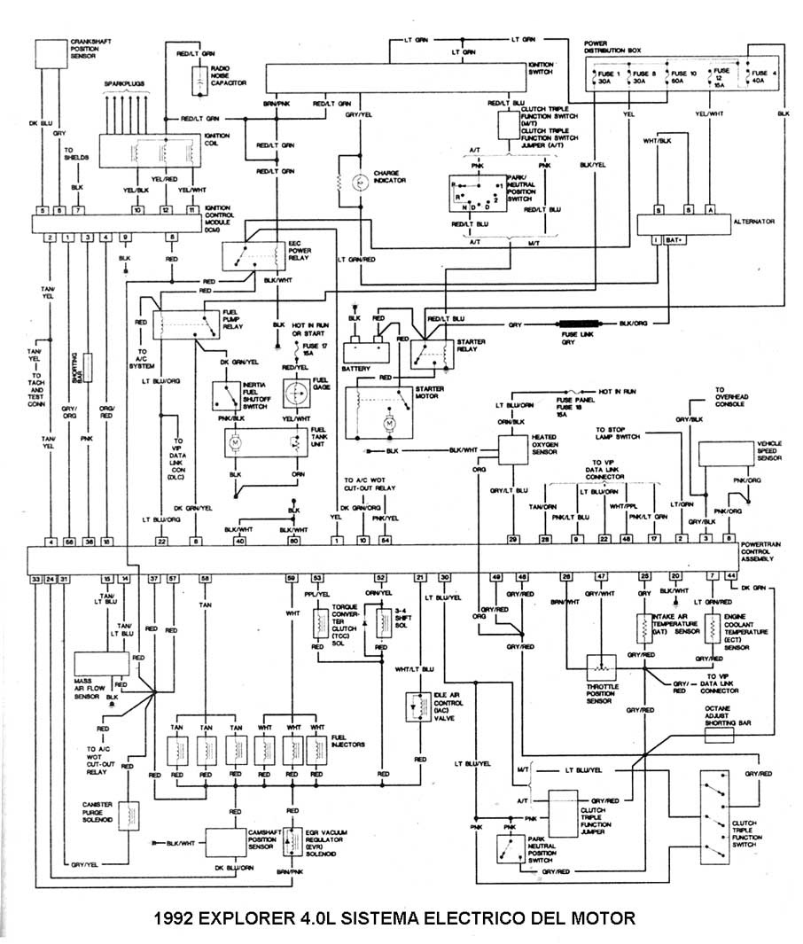 DDMP Automotriz: DIAGRAMA ELECTRICO Ford Explorer 1992 4.0