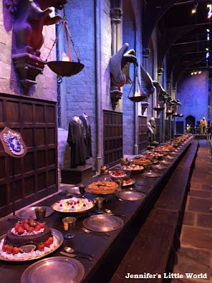 Harry Potter studios tour great hall food