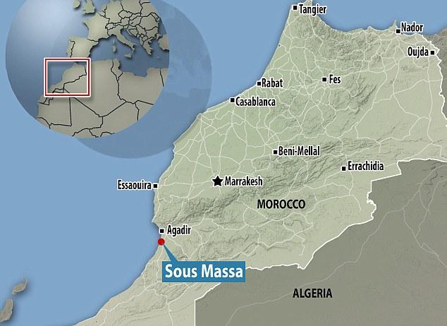 Ubicación de Sous Massa, en donde Hübner planteó que se encontrarían los últimos vestigios de la Atlántida.