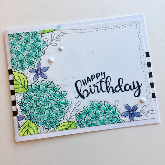 Happy Birthday by Donna features Lovely Blooms and Birthday Essentials by Newton's Nook Designs; #newtonsnook