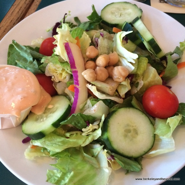 house salad at Lost Coast Brewery & Cafe in Eureka, California