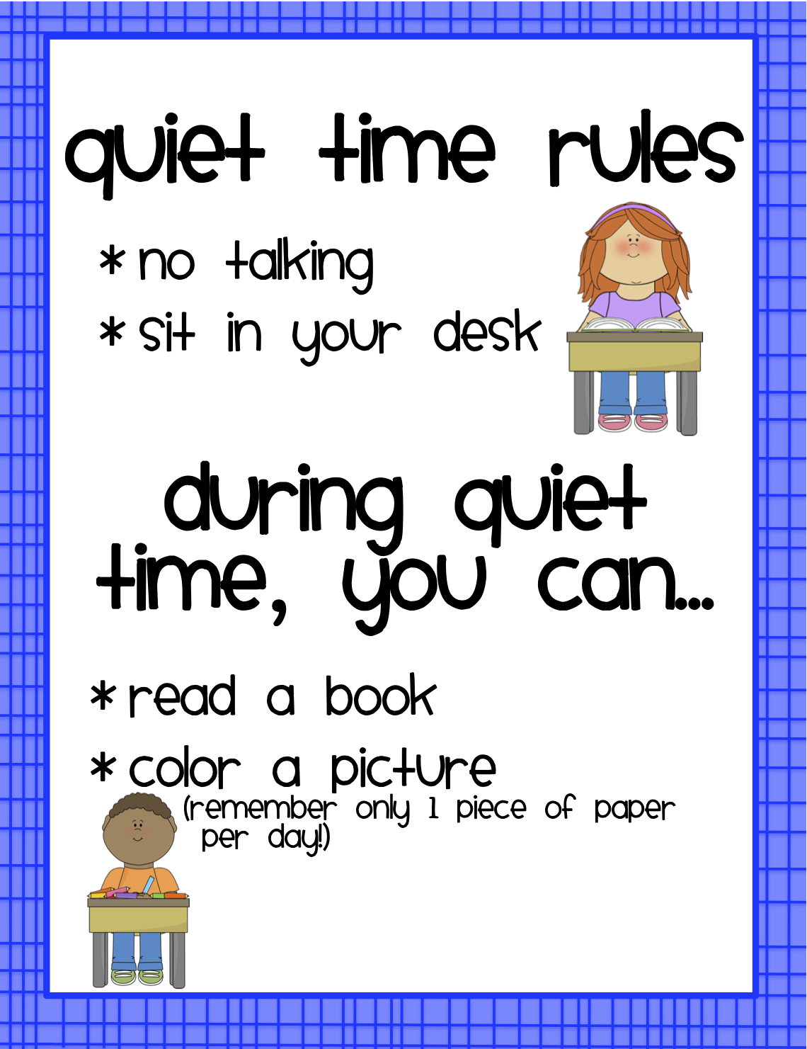 Quiet Time Clip Art