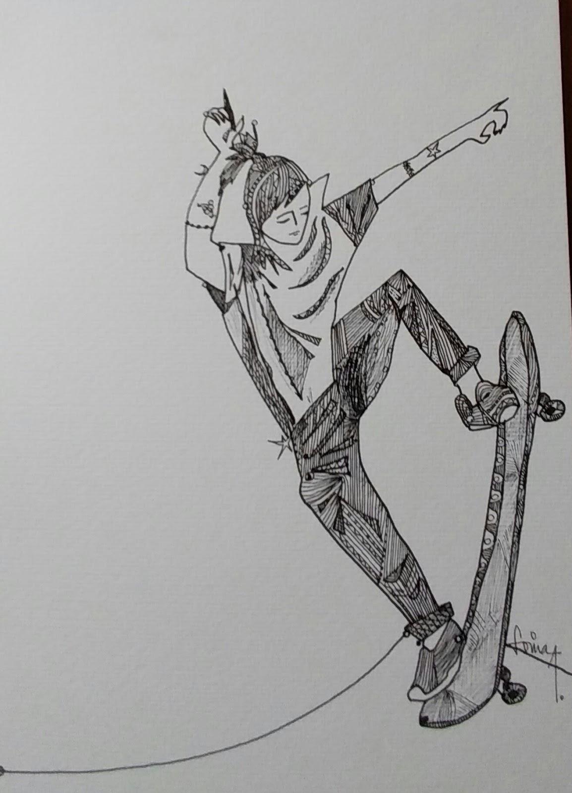sonia albuquerque desenho pintura arte postal e poesia skatista