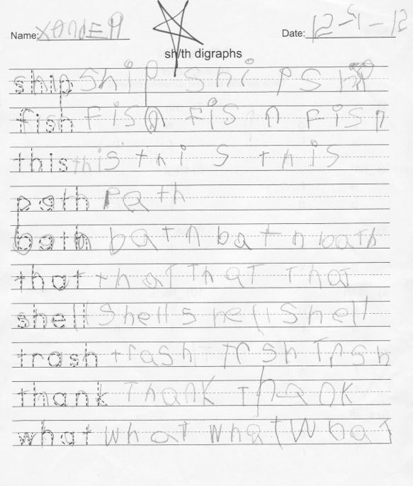 Beginning Writer Lined Paper - Primary Handwriting Paper