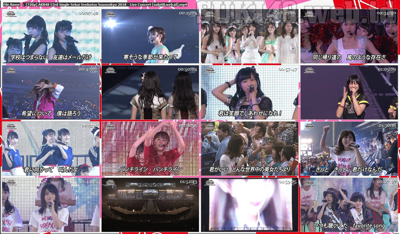 AKB48 53rd Single Sekai Senbatsu Sousenkyo 2018 〜Sekai no